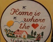 """WonderArt Counted Cross Stitch Kit """"Home is Where the Heart Is"""""""