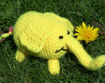 Crochet Tree Trunks the Elephant from Adventure Time - Made to Order