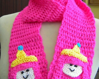 Crochet Princess Bubblegum from Adventure Time Scarf - Made to Order