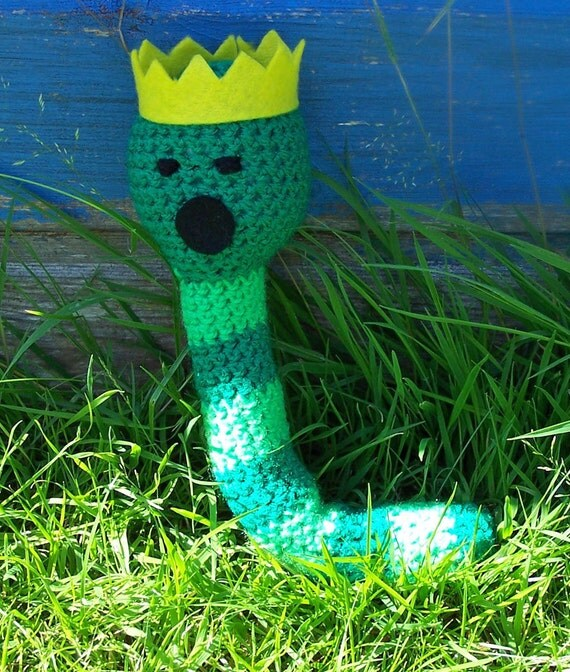 Crochet Adventure Time King Worm - Made to Order
