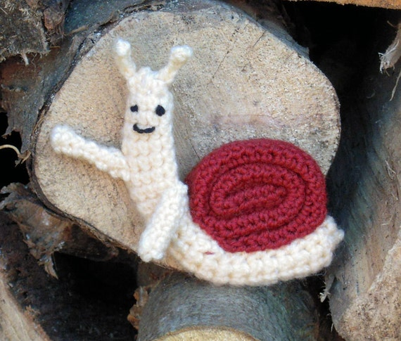 Crochet Waving Snail from Adventure Time - Made to Order
