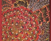 """Reserved for Kelly-12"""" x 12"""" Aboriginal Fabric Canvas"""