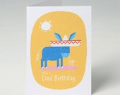 Birthday Card - Donkey - Have A Cool Birthday