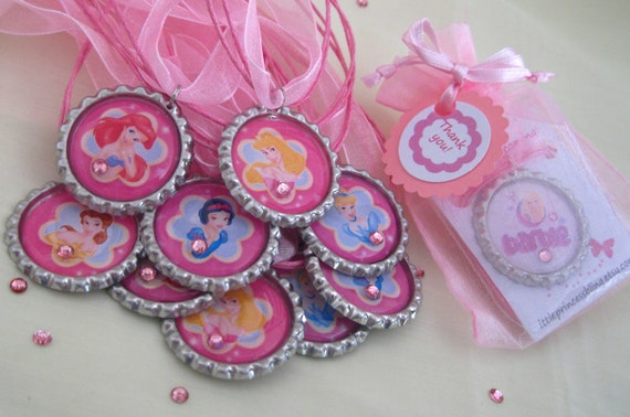 listing for Oliviagrace12/disney princess birthday party favors, 13 necklaces