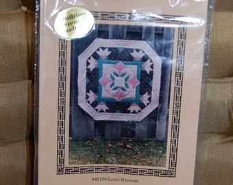 Vintage Quilting Pattern of Lotus Blossums by Needleart Guild  Epsteam