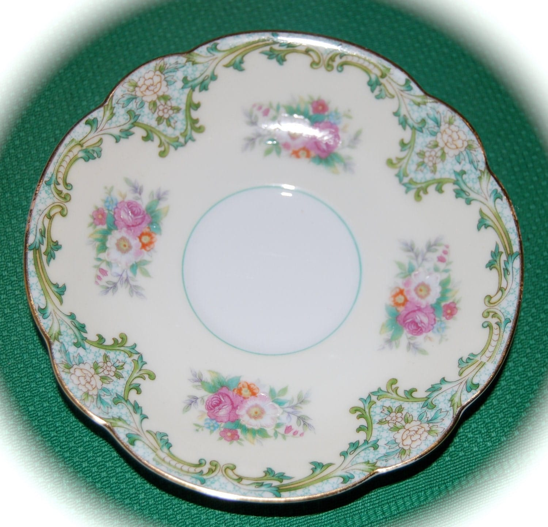 Vintage Noritake China Saucer Luxoria Pattern Bears the
