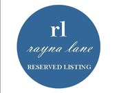 RESERVED LISTING for lpbyrum - banner