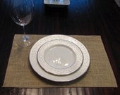 Burlap Placemats - set of 4