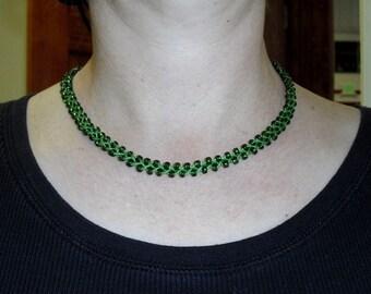 Wearin O the Green Bamboo Necklace Choker