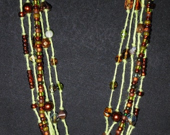 Copper Bead Stranded Necklace