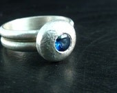 Sterling Silver and Sapphire Ring - Textures