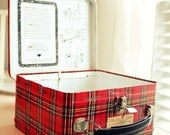 Holiday Sale ViNtAge pLaiD LuNcH bOx