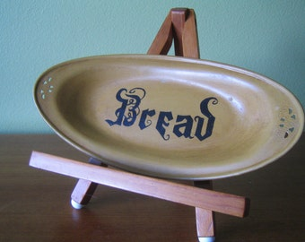 Vintage Bread Tray Hand Painted In 1962