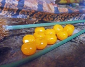 Czech Glass Beads HARVEST PUMPKIN Rondells 6x8mm 12 each