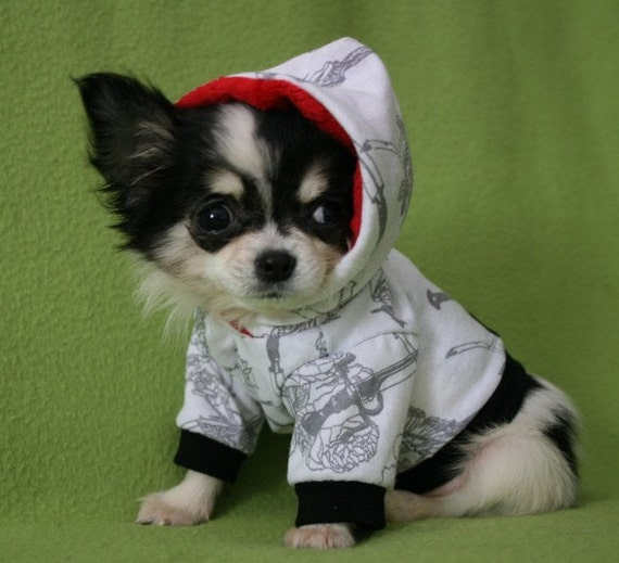 Roses and hearts tattoo print dog hoodie Custom Size reserved for Vikki