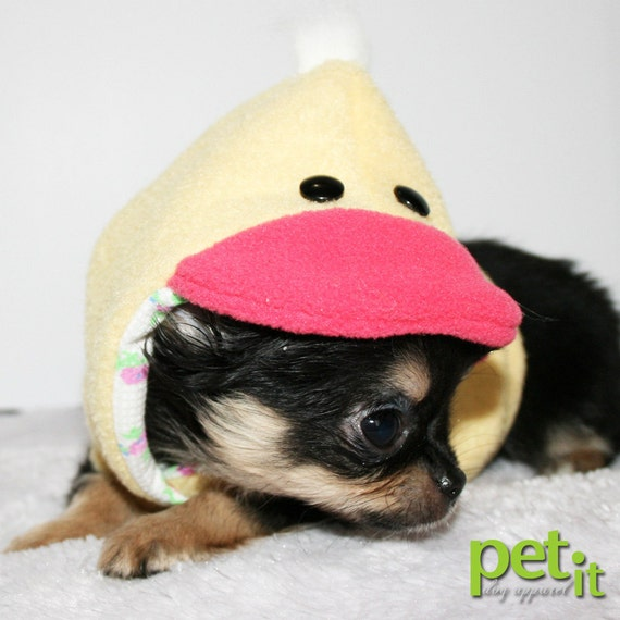 Teacup Dog Hoodie cute duck small costume size XXS