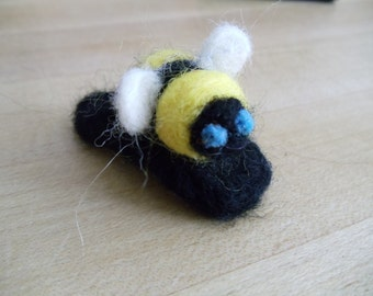 Needle Felted Bumblebee Hair Clip Barrette