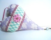 Mauve sachet, pink door hanger, lavender sachet