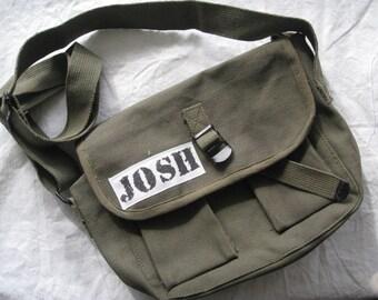 Custom Boy Army Messenger Bag