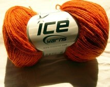 Hypoallergenic Crochet / Knitting Yarn ICE in orange