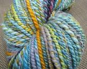 SALE - Handspun Handdyed Polwarth Wool Yarn