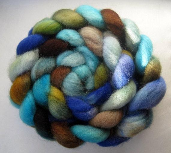 SALE - Shetland Wool Top - Forestry