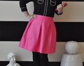 Pink Hartley Skirt full, pleated skirt very retro and vintage 50's and 60's Custom made to order also in plus size