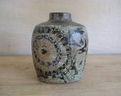 vintage Royal Copenhagen - Pillow Vase - 870/3752 - abstract floral