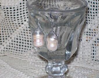 Freshwater Pearls Basketweave Earrings
