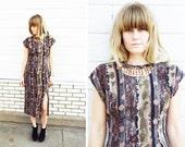 RESERVED for Romayo21 SALE vtg TRIBAL abstract desert dress