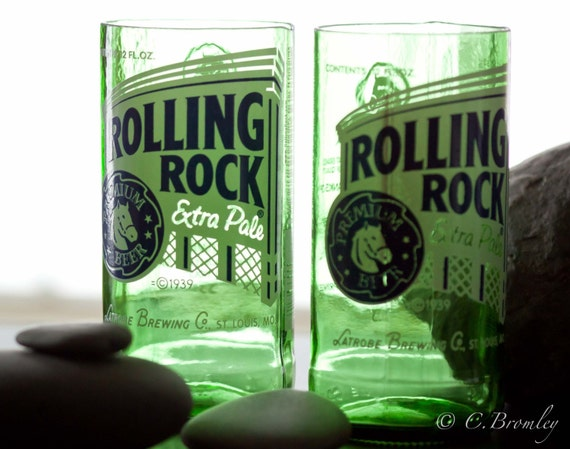 Gift Set: Rolling Rock Tumblers & Guitar Slide