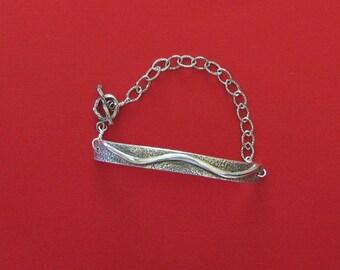 Handmade Silver Bracelet, Silver Bar Bracelet, Casual Silver Bracelet, Elegant Silver Bracelet, Sterling Silver Bracelet