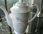 Dragonware teapot in pearl lustre