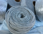 Cotton in Heather Grey  Upcycled Fabric Yarn