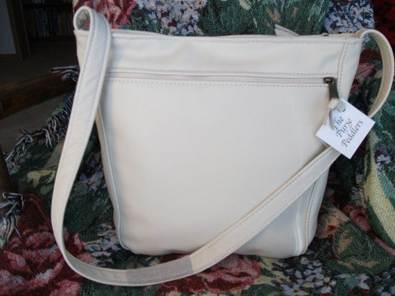 Cream color leather purse for women- cream leather shoulder bag-leather handbag for women-Rita style- other colors available-made in the USA