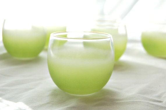 1950s Lime Blendo Party Glasses, Set of 6