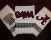 Set of 3 Bama Burp Clothes