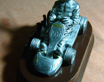 vintage Go Cart themed trophy paper weight