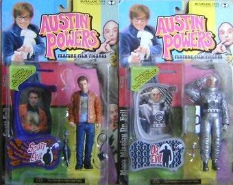 7  Austin Powers talking action figures set