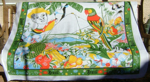 Colorful tablecloth from Brasil