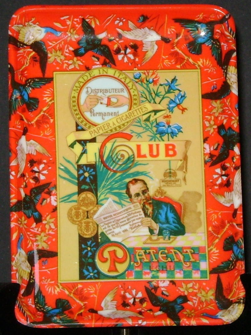 Vintage Plastic Club Rolling Papers Cigarette Rolling Tray