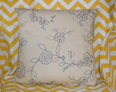 Navy & Cream pillow