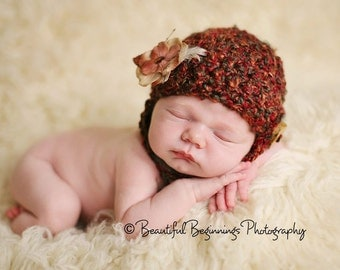 PDF Crochet Pattern - Textured Chinstrap Hat