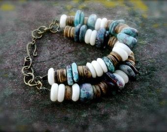 Organic Double Strand Beaded Bracelet - Mirage