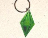Sims Plumbob (Diamond Thing) Keychain