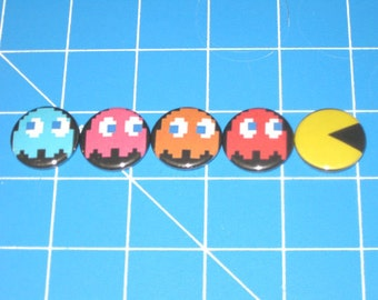 Set of 5 Pacman Badges