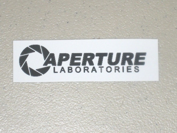 Aperture Science - Black Iron-On Fabric Transfer