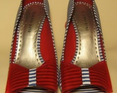 Upcycled Gianni Bini Sailor Pinup Shoes Size 7