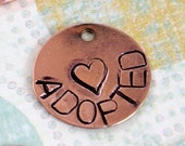 Personalized Copper Dog Tag