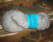 Soft Grey yarn made from shetland sheep wool and mohair, homegrown, handspun